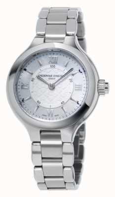 Frederique Constant Womans zachwyca srebrnym zegarem smartwatch FC-281WH3ER6B