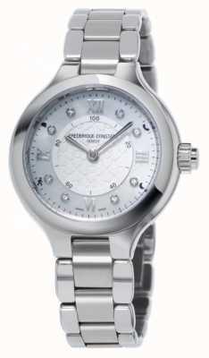 Frederique Constant Womans zachwyca srebrnym zegarem smartwatch FC-281WHD3ER6B