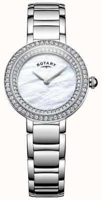Rotary Womans kamień ustawić zegarek koktajlowy LB05085/41L