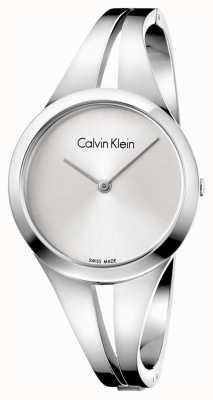 Calvin Klein Womans nałogowa stalowa bransoletka srebrna tarcza m K7W2M116