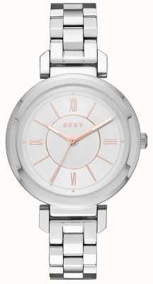 DKNY Zegarek ze srebrnego srebra Womans ellington NY2582