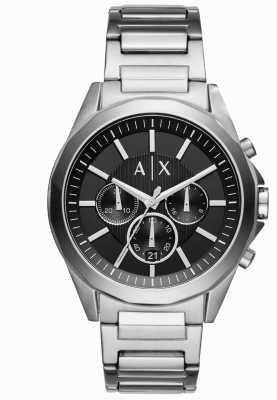 Armani Exchange Męski czarny chronograf ze stali nierdzewnej AX2600