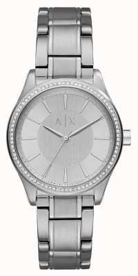 Armani Exchange Womans zegarek ze srebrnej srebrnej sukni AX5440
