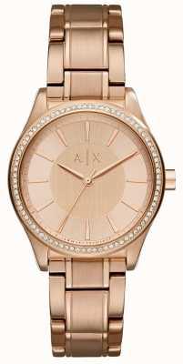 Armani Exchange Zegarek ze złotej różowej womans ze stali AX5442