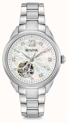 Bulova Automatyczny zegarek damski z diamentem 96P181