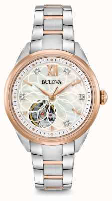Bulova Automatyczny zegarek damski z diamentem 98P170
