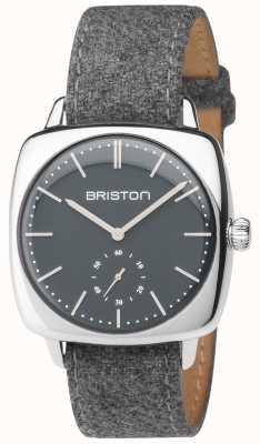Briston Mens clubmaster vintage szary szary pasek z tkaniny 17440.PS.V.17.LFG