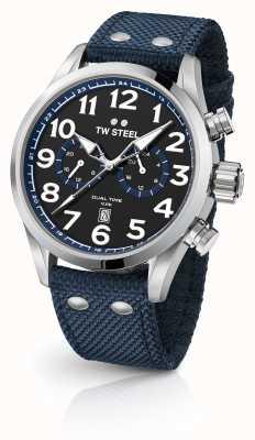 TW Steel Zegarek męski z niebieskiej tkaniny VS37