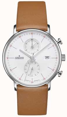 Junghans Formularz c chronoskop ze skóry cielęcej z brązowym paskiem 041/4774.00