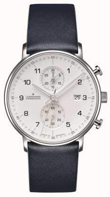 Junghans Formularz c chronoskopu niebieski pasek w kolorze cielęcej z numerami 041/4775.00