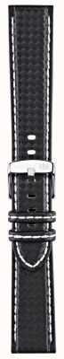 Morellato Tylko pasek - rower techno czarny / biały 22mm A01U3586977817CR22