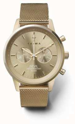Triwa Womans nevil chronograf złota siatka tonowa NEST104:2-ME021313