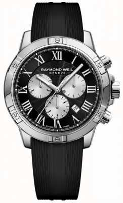Raymond Weil Męski chronograf tango czarny szwajcarski 8560-SR-00206