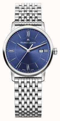 Maurice Lacroix Damska bransoletka ze stali eliros, niebieska tarcza EL1094-SS002-410-1