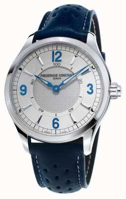 Frederique Constant Męski skórzany pasek z niebieskim zegarem smartwatch FC-282AS5B6
