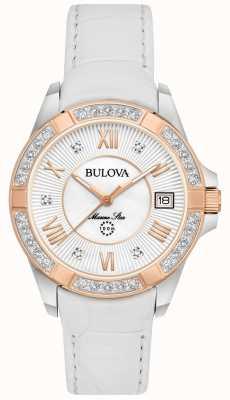 Bulova Womans morska gwiazda diamentowa biel 98R233