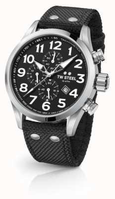 TW Steel Męski czarny chronograf Volante 45 mm VS3