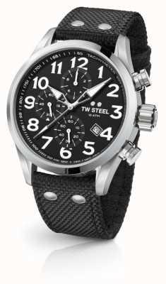 TW Steel Męski volante czarny 48 mm chronograf VS4