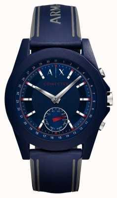 Armani Exchange Połączony niebieski pasek silikonowy do zegarka AXT1002