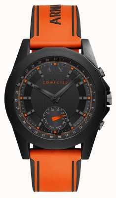 Armani Exchange Połączony pomarańczowy silikonowy pasek na zegarek AXT1003