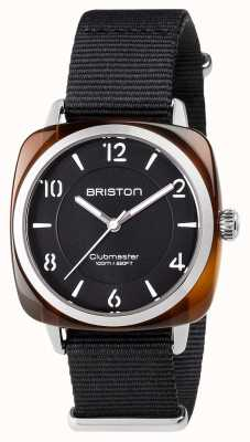 Briston Unisex clubmaster chic czarna stal ocynkowana z paskiem nato 17536.SA.T.1.NB