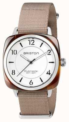 Briston Unisex clubmaster chic beżowa stal octanowa z paskiem nato 17536.SA.T.2.NT