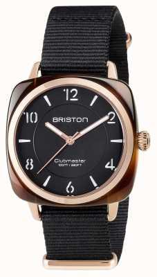 Briston Unisex clubmaster chic black octan pvd różowe złoto 17536.PRA.T.1.NB
