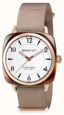 Briston Unisex clubmaster chic beżowy octanowy pvd różowe złoto 17536.PRA.T.2.NT