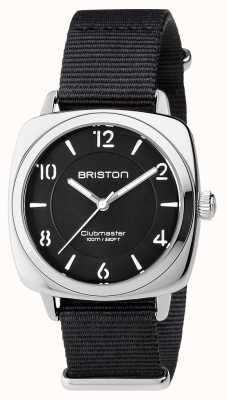 Briston Unisex clubmaster chic czarna stal z paskiem nato 17536.S.L.1.NB