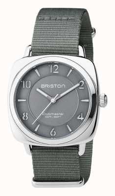 Briston Unisex klubmaster szara szara stal z paskiem nato 17536.S.L.17.NG