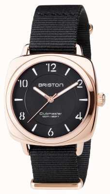 Briston Unisex clubmaster chic black pvd różowe złoto 17536.SPRG.L.1.NB