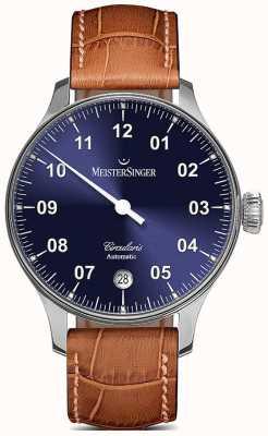 MeisterSinger Mens circularis automatycznie sunburst niebieski CC908