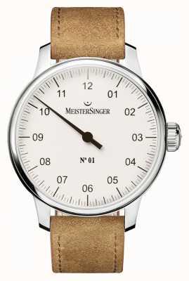 MeisterSinger Mężczyzna nie. 1 klasyczny hand wound hand white AM3301