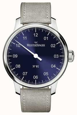 MeisterSinger Męskie klasyczne nie. 1 ręczny produkt do robienia na co dzień sunburst blue AM3308