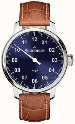 MeisterSinger Męskie klasyczne nie. 2 ręcznie nawijane na kolor niebieski AM6608N