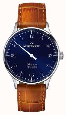 MeisterSinger Męski klasyczny pangea automatyczny niebieski sunburst PM908