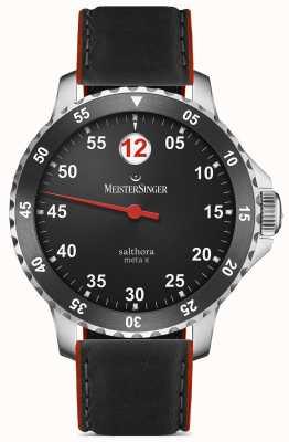 MeisterSinger Mężczyzna klasyczny plus salthora meta x automatyczny czarny czerwony SAMX902