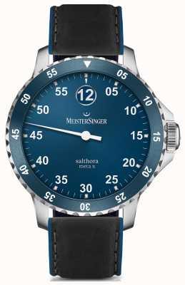 MeisterSinger Mężczyzna klasyczny plus salthora meta x automatyczny niebieski SAMX908