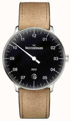 MeisterSinger Męska forma i styl neo automatic black NE902N