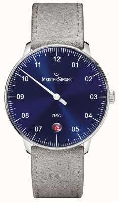 MeisterSinger Męska forma i styl neo automatyczny niebieski sunburst NE908N