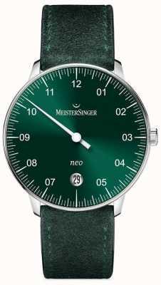 MeisterSinger Męska forma i styl neo automatycznego sunburst green NE909N