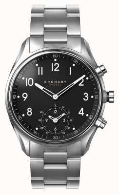 Kronaby 43mm czarny zegarek ze smartfonem ze stykiem bluetooth ze stali nierdzewnej A1000-1426