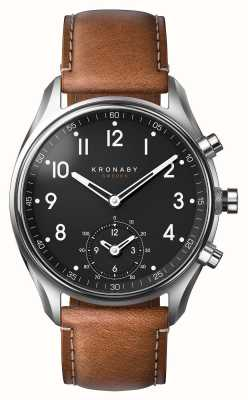Kronaby 43mm apex bluetooth brązowa skóra a1000-0729 S0729/1