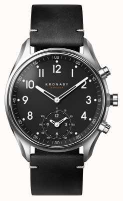 Kronaby Skórzany zegarek na rękę ze stali nierdzewnej 43mm A1000-1399