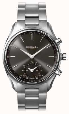 Kronaby 43mm sittel bluetooth czarna tarcza ze stali nierdzewnej smartwatch A1000-0720