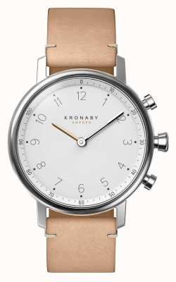 Kronaby Beżowy skórzany pasek 38 mm Nord Bluetooth A1000-0712 S0712/1