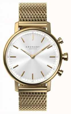 Kronaby 38mm karatowy bluetooth złoty pasek na rękę smartwatch A1000-0716