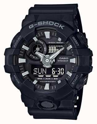 Casio Męski czarny g-shock chronograf GA-700-1BER