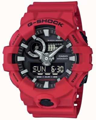 Casio Mężczyzna g-shock czerwony alarm chronograf GA-700-4AER
