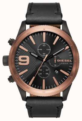 Diesel Gents zgrzyt chrono różowe złoto / czarny zegarek DZ4445